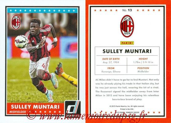 2015 - Panini Donruss Soccer - N° 013 - Sulley MUNTARI (Milan AC)