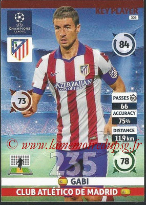 2014-15 - Adrenalyn XL champions League N° 308 - GABI (Club Atletico de Madrid) (Key Player)