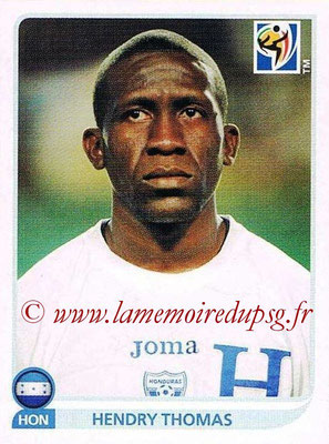 2010 - Panini FIFA World Cup South Africa Stickers - N° 612 - Hendry THOMAS (Honduras)