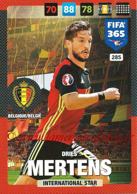 2016-17 - Panini Adrenalyn XL FIFA 365 - N° 285 - Dries MERTENS (Belgique) (International Star)