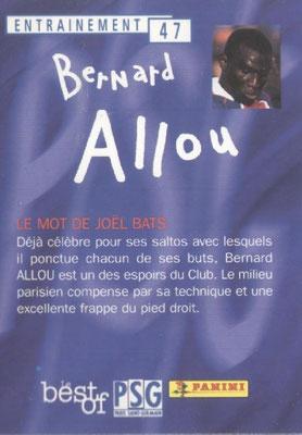 N° 047 - Bernard ALLOU (Verso)