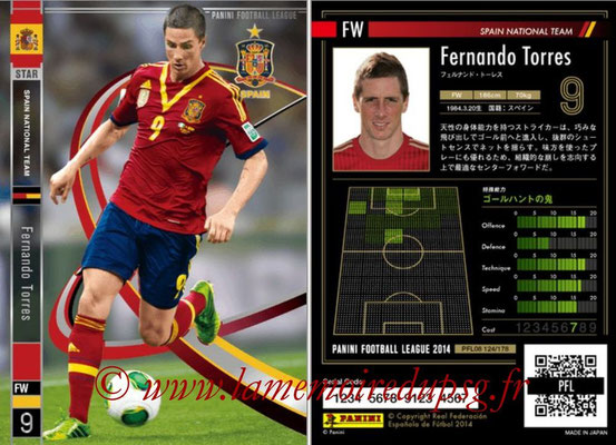 Panini Football League 2014 - PFL08 - N° 124 - Fernando TORRES (Espagne) (Star)