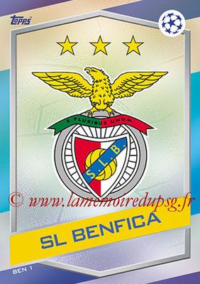 2016-17 - Topps UEFA Champions League Match Attax - N° BEN1 - Logo SL Benfica