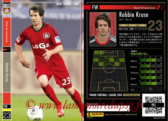 Panini Football League 2014 - PFL06 - N° 105 - Robbie KRUSE (Bayer 04 Leverkusen)