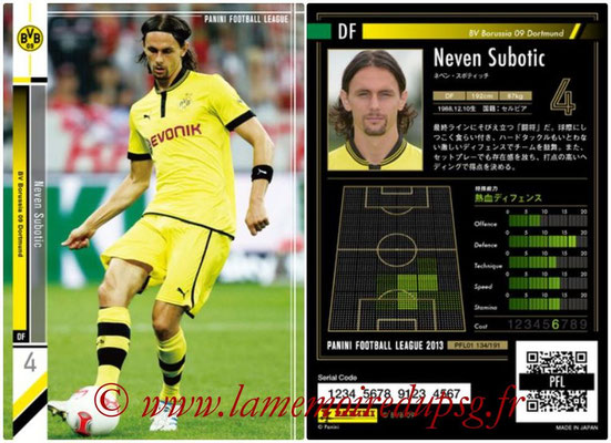 Panini Football League 2013 - PFL01 - N° 134 - Neven Subotic ( BV Borussia 09 Dortmund )