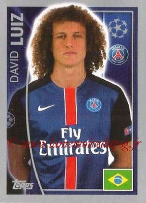 2015-16 - Topps UEFA Champions League Stickers - N° 022 - David LUIZ (Paris Saint-Germain)