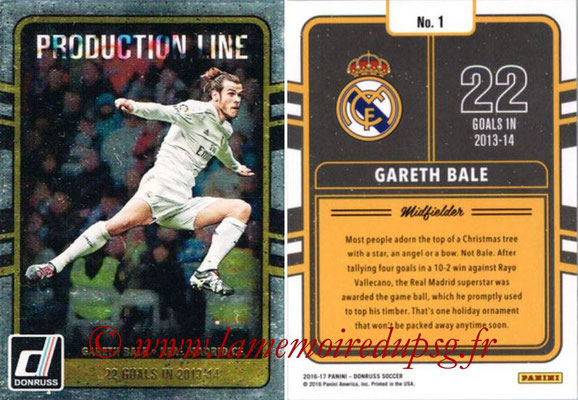 2016 - Panini Donruss Cards - N° PL01 - Gareth BALE (Real Madrid CF) (Production Line)