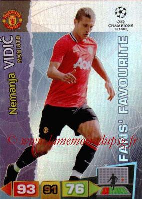 2011-12 - Panini Champions League Cards - N° 311 - Nemanja VIDIC (Manchester United FC) (Fans' Favourite)