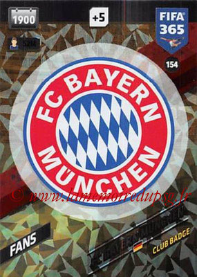 2017-18 - Panini FIFA 365 Cards - N° 154 - Logo FC Bayern Munich (Club Badge)