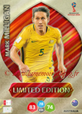 2018 - Panini FIFA World Cup Russia Adrenalyn XL - N° LE-MM - Mark MILLIGAN (Australie) (Limited Edition)