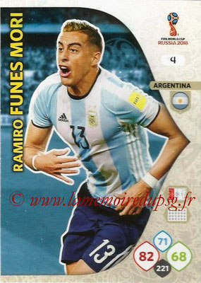 2018 - Panini FIFA World Cup Russia Adrenalyn XL - N° 004 - Ramiro FUNES MORI (Argentine)