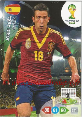2014 - Panini FIFA World Cup Brazil Adrenalyn XL - N° 145 - Jordi ALBA (Espagne)