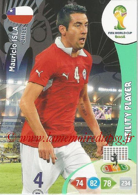 2014 - Panini FIFA World Cup Brazil Adrenalyn XL - N° 071 - Mauricio ISLA (Chili) (Utility Player)