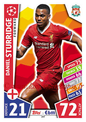 2017-18 - Topps UEFA Champions League Match Attax - N° 197 - Daniel STURRIDGE (Liverpool FC)