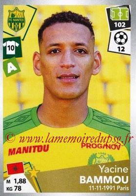 2017-18 - Panini Ligue 1 Stickers - N° 329 - Yacine BAMMOU (Nantes)