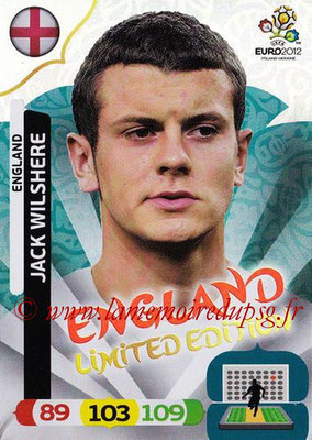 Panini Euro 2012 Cards Adrenalyn XL - N° LE16 - Jack WILSHERE (Angleterre) (Limited Edition)