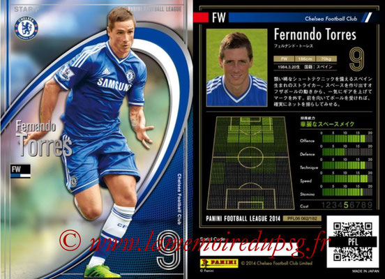 Panini Football League 2014 - PFL06 - N° 062 - Fernando TORRES (Chelsea FC) (Star +)