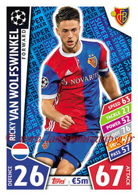 2017-18 - Topps UEFA Champions League Match Attax - N° SS18 - Ricky VAN WOLFSWINKEL (FC Bâle) (Super Strikers)