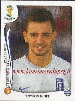 2014 - Panini FIFA World Cup Brazil Stickers - N° 217 - Sotiris NINIS (Grèce)