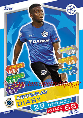 2016-17 - Topps UEFA Champions League Match Attax - N° BRU17 - Abdoulay DIABY (Club Brugge KV)