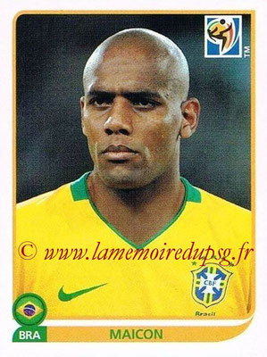 2010 - Panini FIFA World Cup South Africa Stickers - N° 492 - MAICON (Brésil)