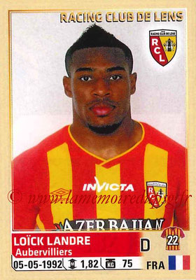 2014-15 - Panini Ligue 1 Stickers - N° 132 - Loïck LANDRE (RC Lens)