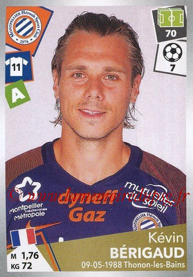 2017-18 - Panini Ligue 1 Stickers - N° 301 - Kévin BERIGAUS (Montpellier)