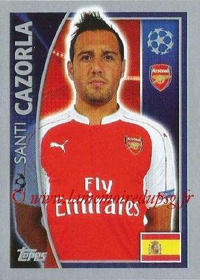 2015-16 - Topps UEFA Champions League Stickers - N° 399 - Santi CAZORLA (Arsenal FC)