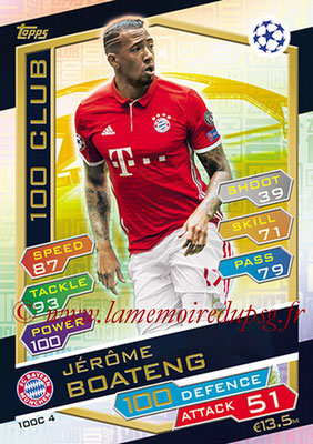 2016-17 - Topps UEFA Champions League Match Attax - N° 100C4 - Jerome BOATENG (FC Bayern Munich) (100 Club)