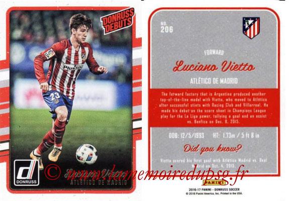 2016 - Panini Donruss Cards - N° 206 - Luciano VIETTO (Atletico de Madrid) (Donruss Debuts)