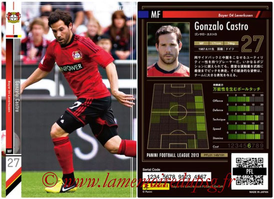 Panini Football League 2013 - PFL01 - N° 148 - Gonzalo Castro ( Bayer 04 Leverkusen )