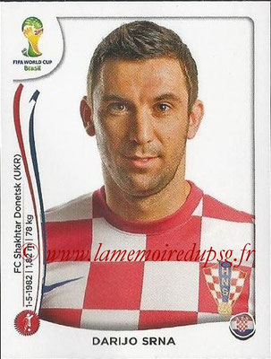 2014 - Panini FIFA World Cup Brazil Stickers - N° 054 - Darijo SRNA (Croatie)