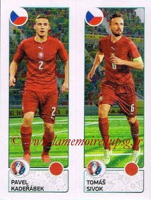 Panini Euro 2016 Stickers - N° 380 - Pavel KADERABEK + Tomas SIVOK (République Tchèque)