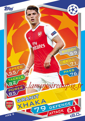 2016-17 - Topps UEFA Champions League Match Attax - N° ARS9 - Granit XHAKA (Arsenal FC)
