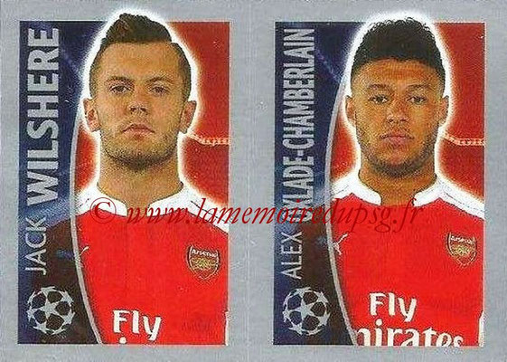 2015-16 - Topps UEFA Champions League Stickers - N° 406 - Jack WILSHERE + Alex OXLADE-CHAMBERLAIN (Arsenal FC)