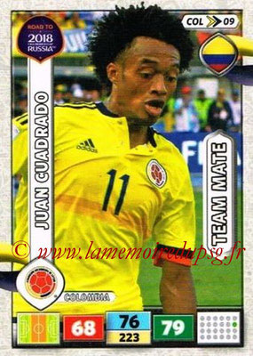 2018 - Panini Road to FIFA World Cup Russia Adrenalyn XL - N° COL09 - Juan CUADRADO (Colombie)