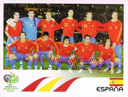 2006 - Panini FIFA World Cup Germany Stickers - N° 530 - Équipe Espagne