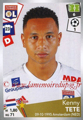 2017-18 - Panini Ligue 1 Stickers - N° 190 - Kenny TETE  LOPES (Lyon)