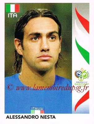2006 - Panini FIFA World Cup Germany Stickers - N° 326 - Alessandro NESTA (Italie)
