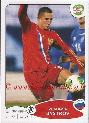 2014 - Panini Road to FIFA World Cup Brazil Stickers - N° 333 - Vladimir BYSTROV (Russie)