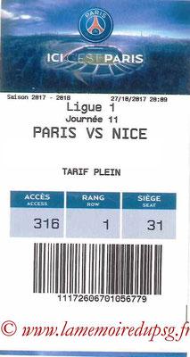 Tickets  PSG-Nice  2017-18