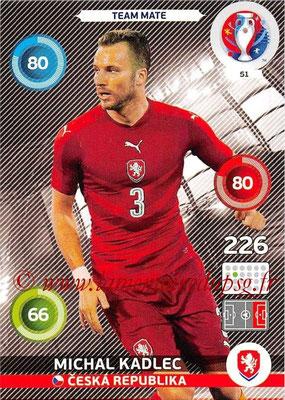 Panini Euro 2016 Cards - N° 051 - Michal KADLEC (République Tchèque)