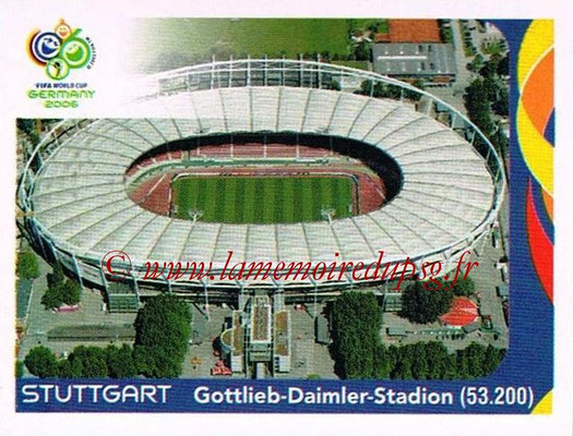 2006 - Panini FIFA World Cup Germany Stickers - N° 015 - Stuttgart - Gottlieb-Daimler-Stadion