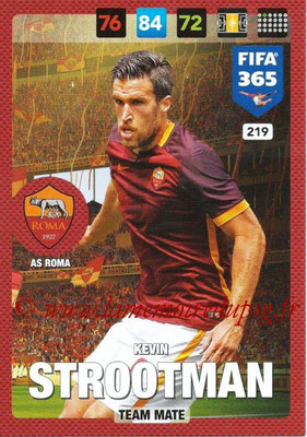 2016-17 - Panini Adrenalyn XL FIFA 365 - N° 219 - Kevin STROOTMAN (AS Roma)