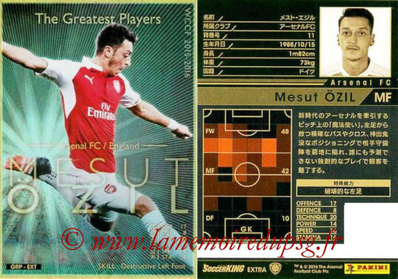 2015-16 - Panini WCCF - N° GRP-EXT5 - Mesut ÖZIL (Arsenal FC) (The Greatest Players) (Extra)