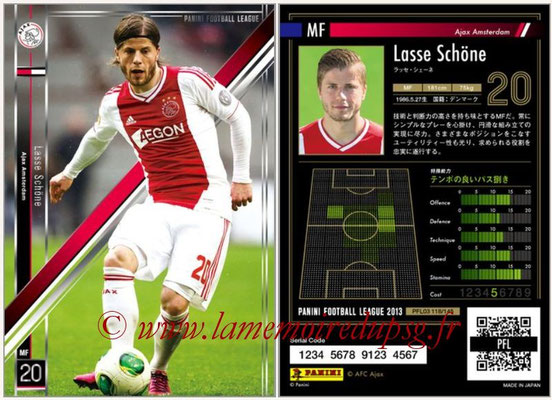Panini Football League 2013 - PFL03 - N° 118 - Lasse Schone (Ajax Amsterdam)