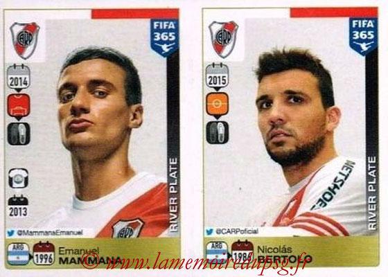 2015-16 - Panini FIFA 365 Stickers - N° 108-109 - Emanuel MAMMANA + Nicolas BERTOLO (River Plate)