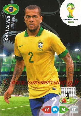 2014 - Panini FIFA World Cup Brazil Adrenalyn XL - N° 048 - Dani ALVES (Brésil)