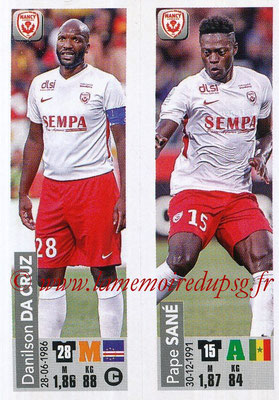 2018-19 - Panini Ligue 1 Stickers - N° 545 - Danilson DA CRUZ + Pape SANE (AS Nancy Lorraine)