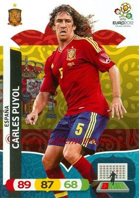Panini Euro 2012 Cards Adrenalyn XL - N° 059 - Carles PUYOL (Espagne)